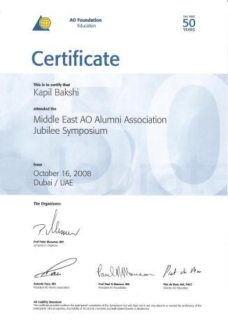 Switz AO Course Certificate