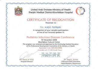 UAE National Paediatric Conference Speaker